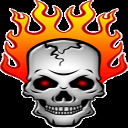 Flaming skull clip art vector library stock red-flaming-skull-clipart - ROBLOX vector library stock