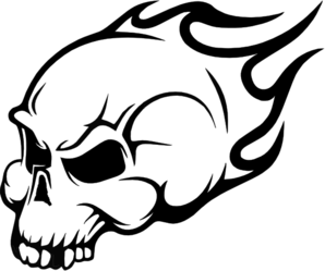Flaming skull clip art black and white library Flaming skull clip art - ClipartFest black and white library