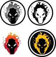 Flaming skull clip art png royalty free stock Flaming Skull Clip Art, Vector Flaming Skull - 350 Graphics ... png royalty free stock
