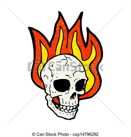 Flaming skull clip art picture royalty free library EPS Vectors of flaming skull cartoon csp14796292 - Search Clip Art ... picture royalty free library
