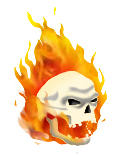 Flaming skull clip art picture Cool Skull Clip Art (and Funny!) picture