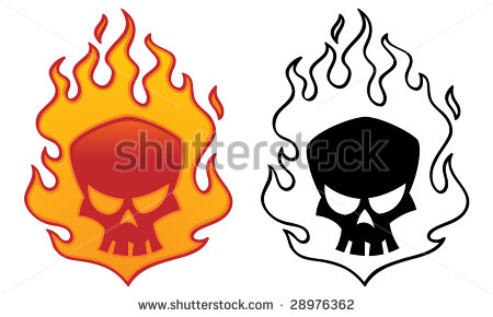 Flaming skull clip art jpg library Flaming Skull Stock Images, Royalty-Free Images & Vectors ... jpg library