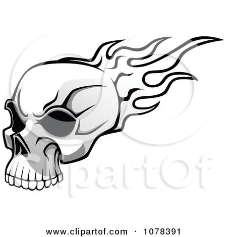 Flaming skull clip art jpg download Royalty-Free (RF) Flaming Skull Clipart, Illustrations, Vector ... jpg download
