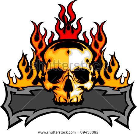 Flaming skull clip art image freeuse download Flaming Skull Stock Images, Royalty-Free Images & Vectors ... image freeuse download