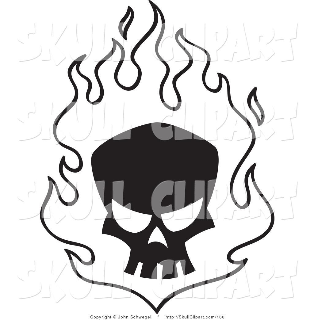 Flaming skull clip art svg royalty free stock Fire skull drawing clip art free clipart - ClipartFest svg royalty free stock