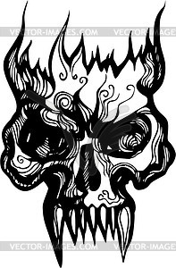 Flaming skull clipart clipart transparent stock flame - vector clipart clipart transparent stock
