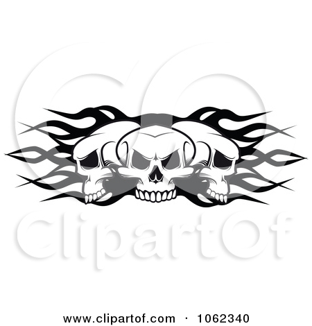 Flaming skull clipart vector freeuse download Royalty-Free (RF) Flaming Skull Clipart, Illustrations, Vector ... vector freeuse download