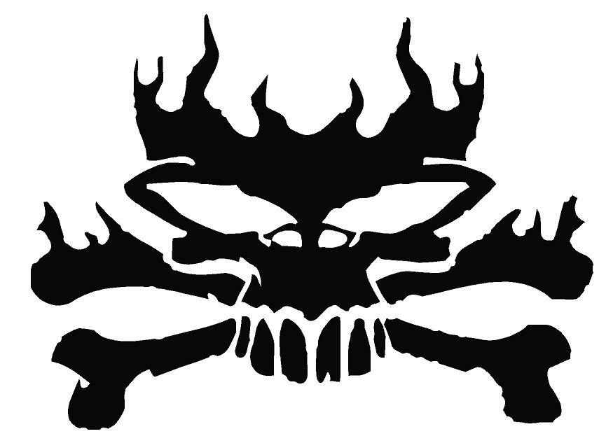 Flaming skull clipart black and white library Pics Of Flaming Skulls | Free Download Clip Art | Free Clip Art ... black and white library