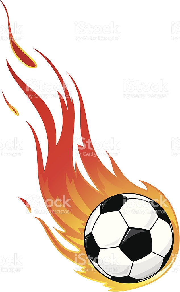 Flaming soccer ball clip art image royalty free download Flaming Soccer Ball Against White Background stock vector art ... image royalty free download