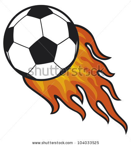Flaming soccer ball clip art free download Soccer ball with flames on grass clipart - ClipartFest free download