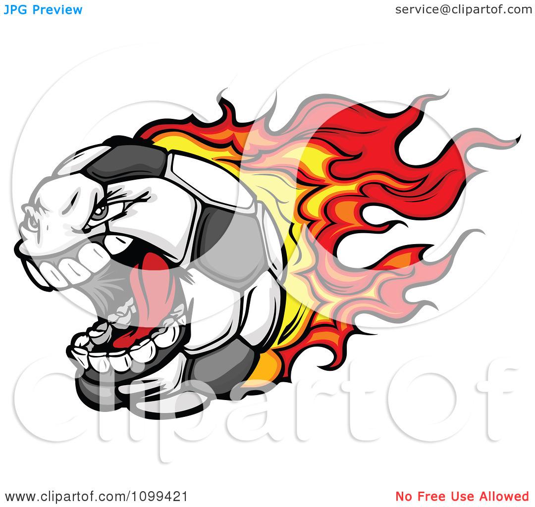 Flaming soccer ball clip art svg royalty free download Clipart Screaming Flaming Soccer Ball Mascot Character - Royalty ... svg royalty free download