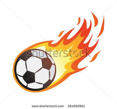Flaming soccer ball clip art vector freeuse stock Vector soccer ball flames free vector download (3,609 Free vector ... vector freeuse stock