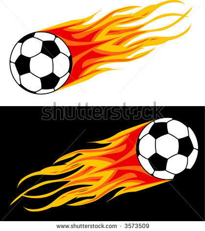 Flaming soccer ball clipart vector black and white library Flame Soccer Ball Clipart - Clipart Kid vector black and white library