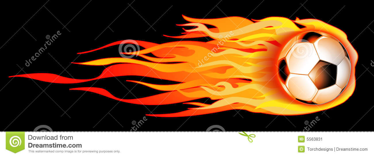 Flaming soccer ball clipart graphic black and white stock Flaming Soccer Ball Illustration Stock Image - Image: 5563831 graphic black and white stock
