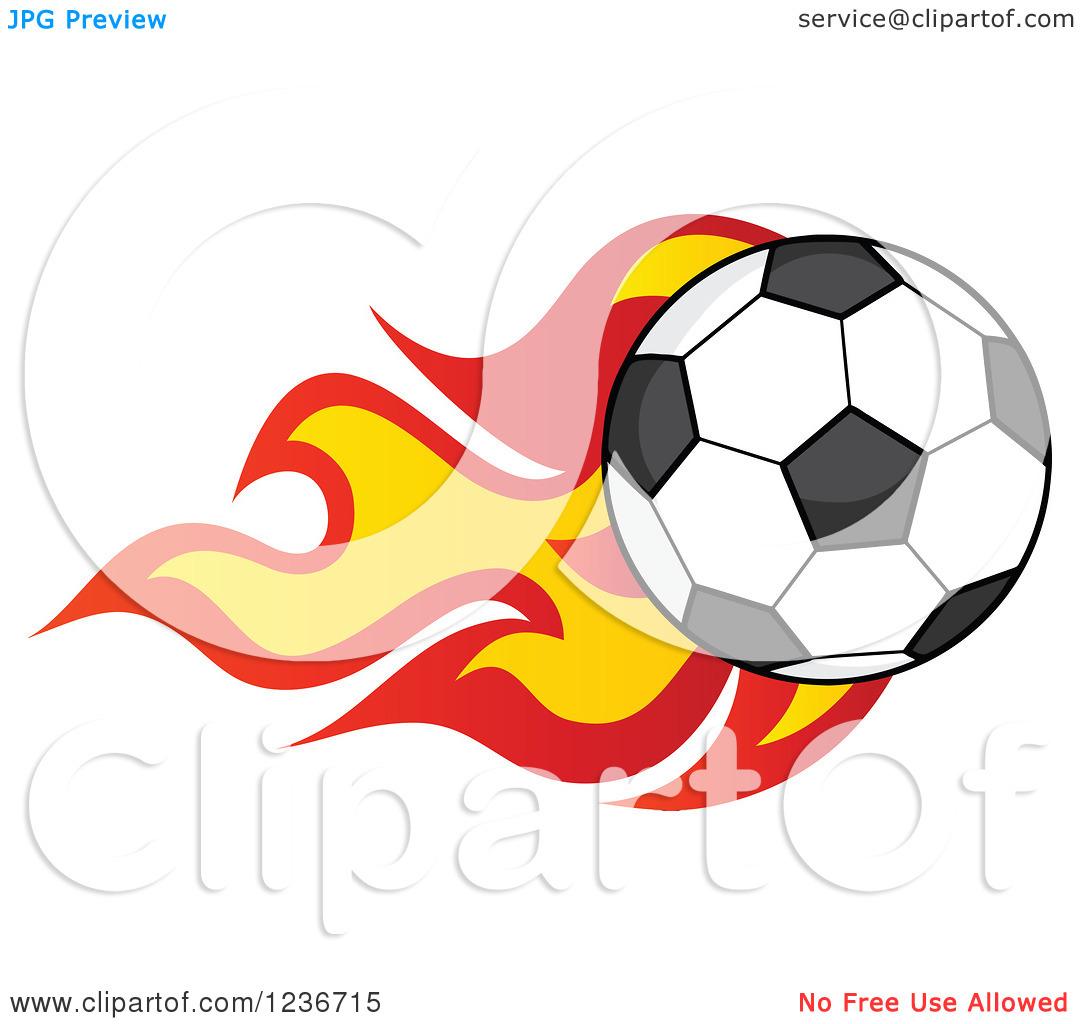 Flaming soccer ball clipart image royalty free download Clipart of a Flying Soccer Ball with Flames - Royalty Free Vector ... image royalty free download
