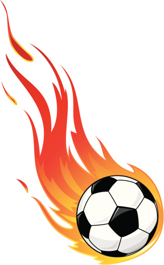 Flaming soccer ball clipart clip freeuse Flaming Football Clipart - ClipArt Best clip freeuse