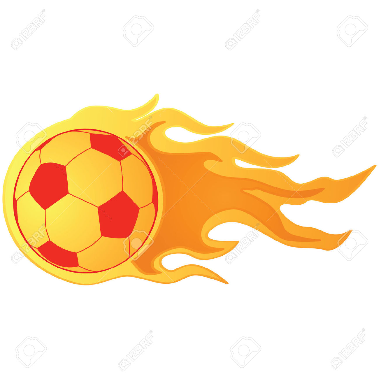 Flaming soccer ball clipart free Flame ball clipart - ClipartFest free