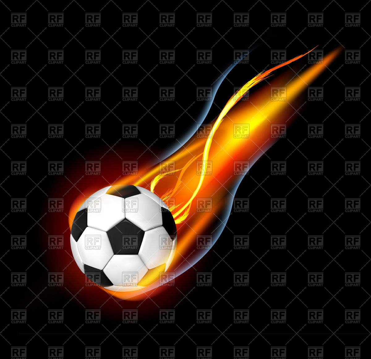 Flaming soccer ball clipart clipart library stock Soccer ball clipart eps - ClipartFest clipart library stock