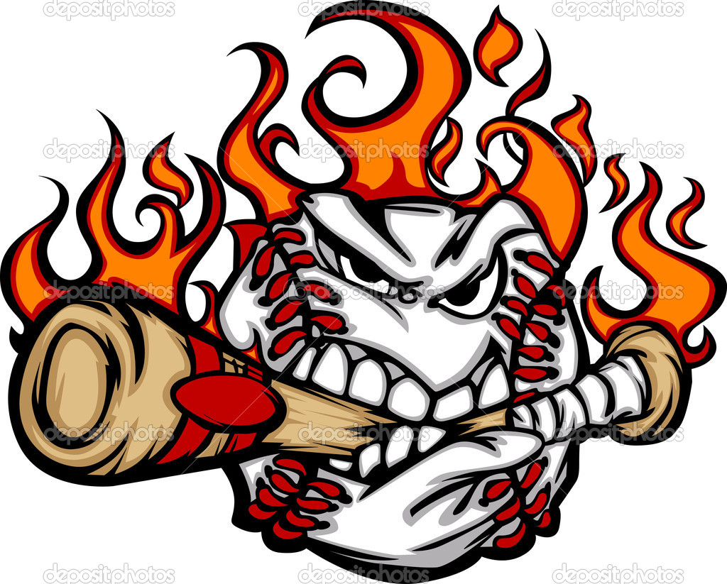 Flaming softball clipart clipart library Flaming Baseball Clipart - Clipart Kid clipart library