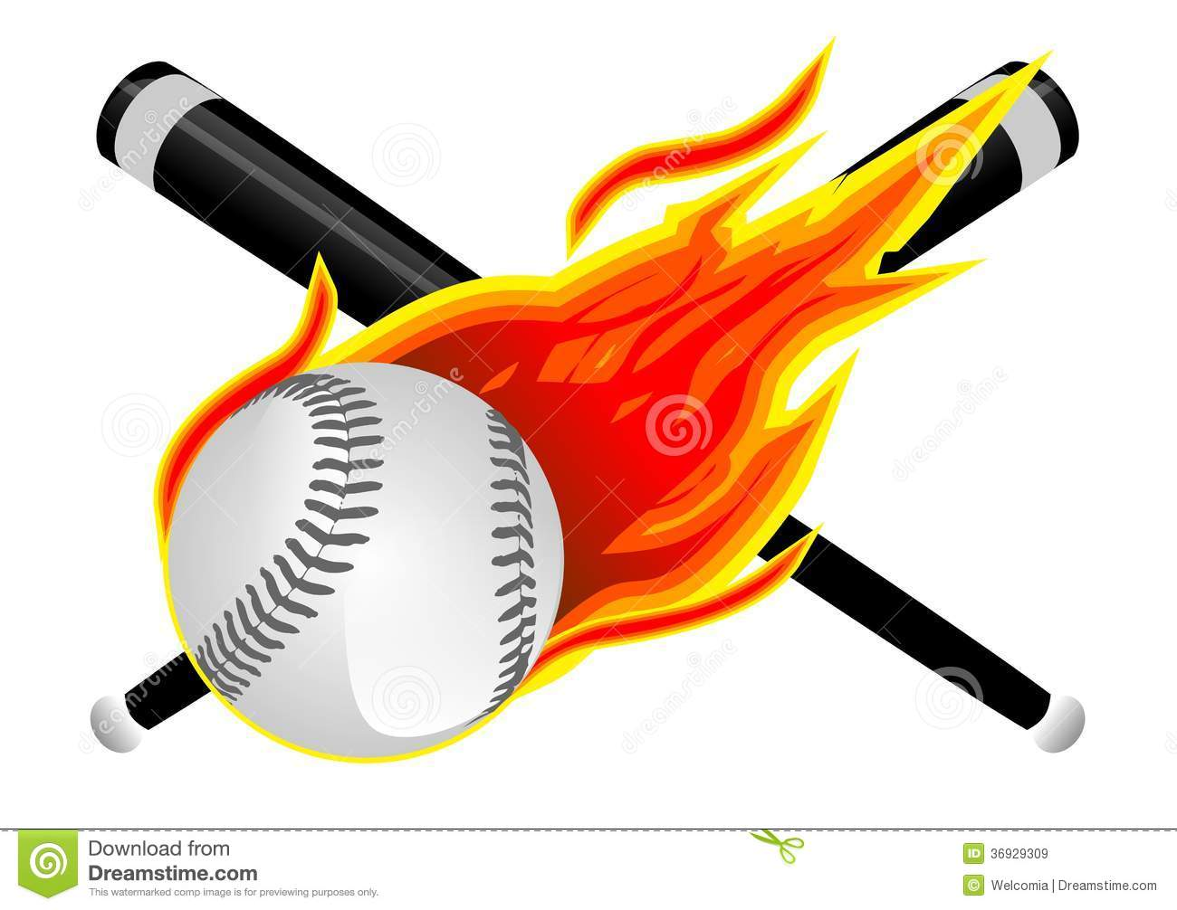 Flaming softball clipart picture black and white stock Flaming Baseball Clipart - Clipart Kid picture black and white stock