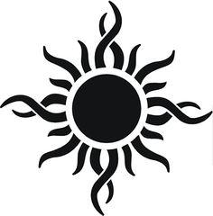 Flaming sun clipart jpg freeuse library sun art | Tribal Sun clip art - vector clip art online, royalty ... jpg freeuse library