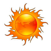 Flaming sun clipart clip art free Clip Art of Sun with Flame-like Rays k9420192 - Search Clipart ... clip art free