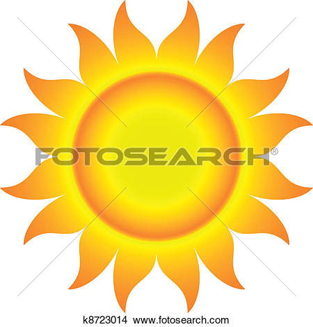 Flaming sun clipart banner black and white download Clip Art of Sun with Flame-like Rays k9420192 - Search Clipart ... banner black and white download