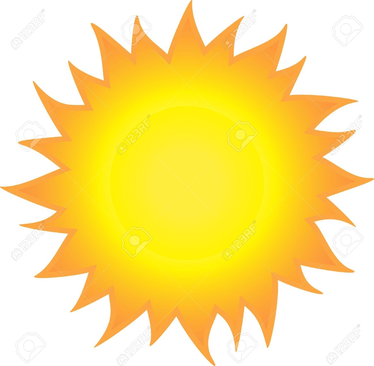 Flaming sun clipart png black and white download Burning sun clipart - ClipartFest png black and white download