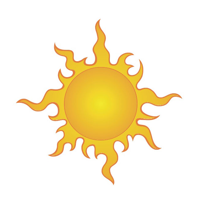 Flaming sun clipart svg black and white library Flaming sun clipart - ClipartFest svg black and white library