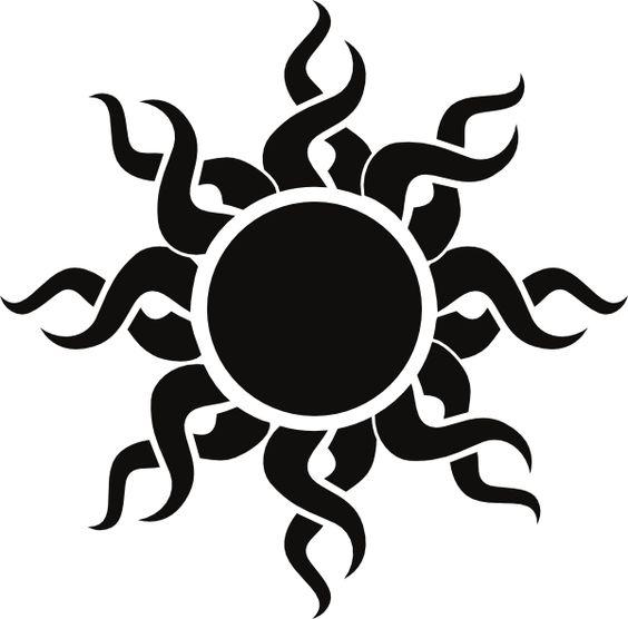 Flaming sun clipart transparent stock sun art | Tribal Sun clip art - vector clip art online, royalty ... transparent stock