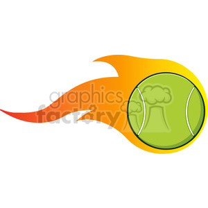 Flaming tennis ball clipart png download cartoon flaming tennis ball vector illustration isolated on white clipart.  Royalty-free clipart # 400107 png download