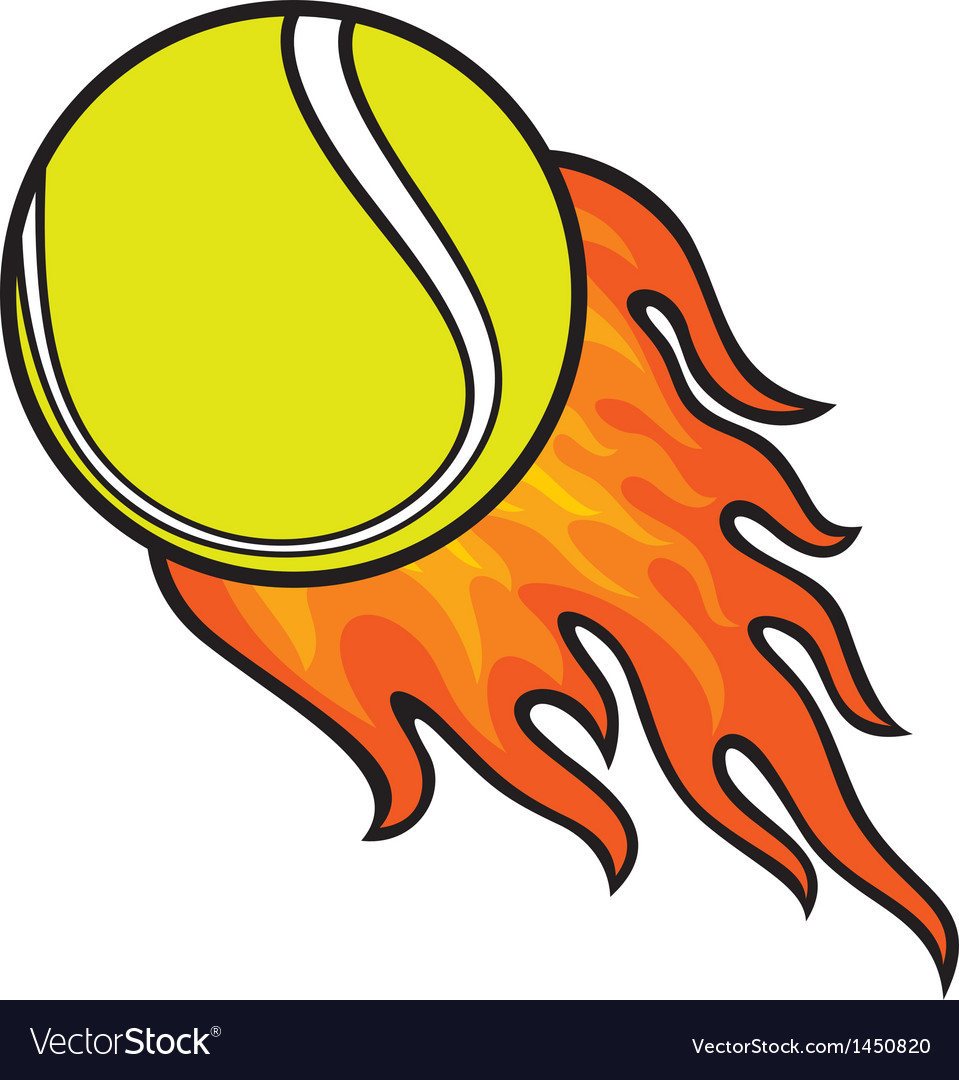 Flaming tennis ball clipart png library download Tennis, Ball, In & Flame Vector Images (over 250) png library download