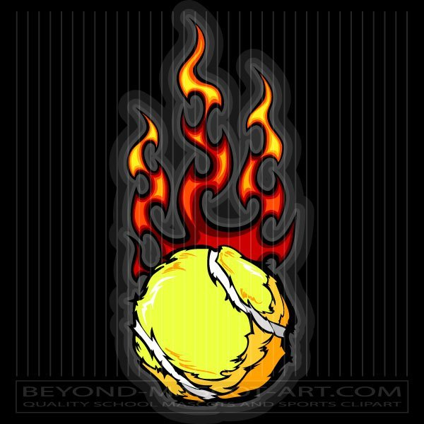 Flaming tennis ball clipart svg black and white library Vector Flaming Tennis Ball svg black and white library
