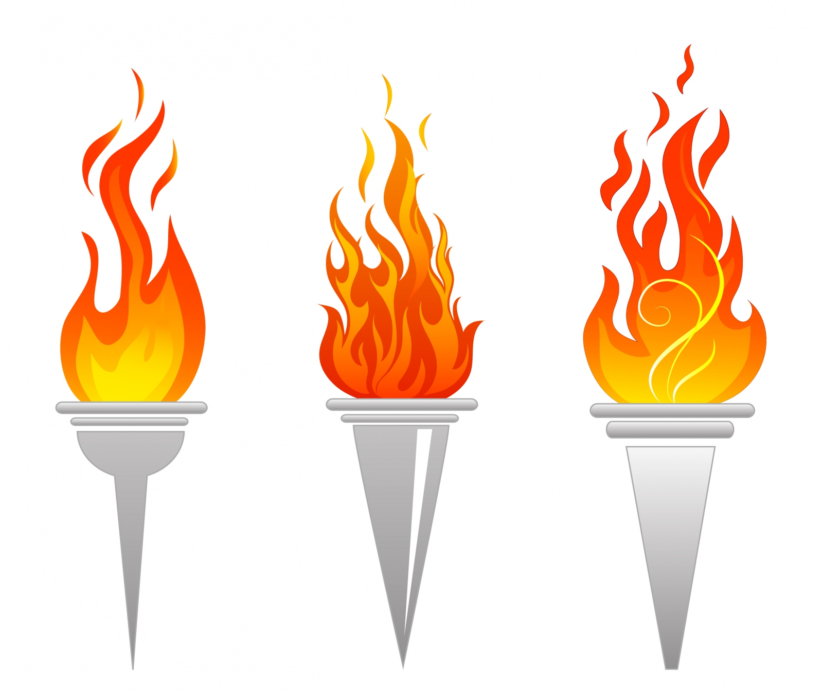 Flaming torch clipart svg royalty free stock Vector / Free Vectors Download / 4Vector svg royalty free stock