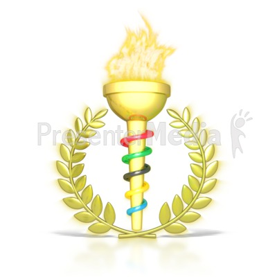 Flaming torch clipart freeuse Ceremonial Flaming Torch - Signs and Symbols - Great Clipart for ... freeuse