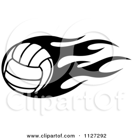 Flaming volleyball clipart svg library Royalty-Free (RF) Flaming Volleyball Clipart, Illustrations ... svg library