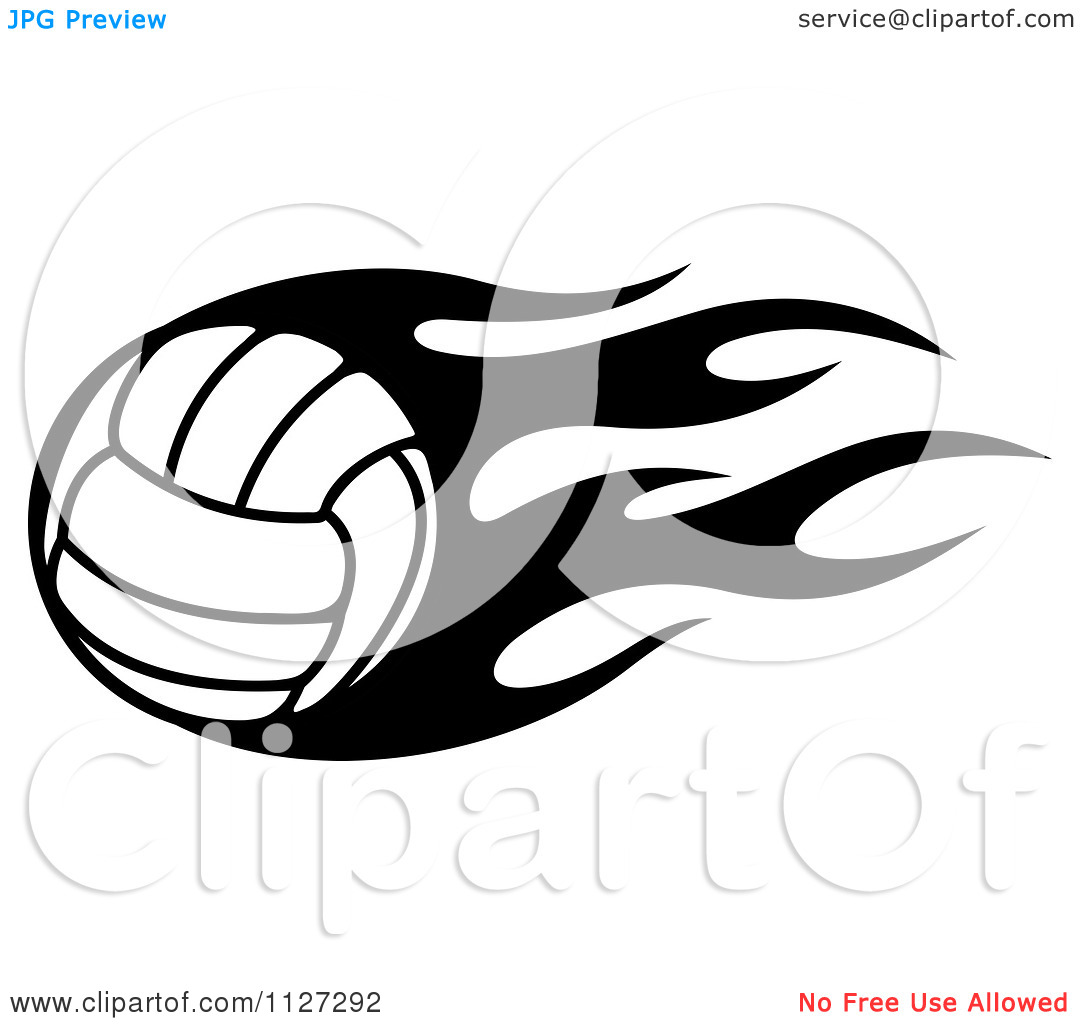 Flaming volleyball clipart png royalty free Black and white flaming volleyball clipart - ClipartFest png royalty free