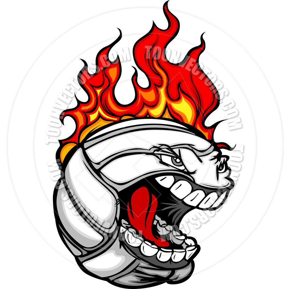 Flaming volleyball clipart black and white Flaming Volleyball Vector | Clipart Panda - Free Clipart Images black and white