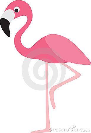 Flamingo cartoon clipart. Royalty free stock photos