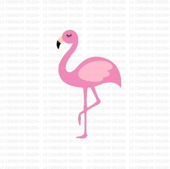 Silouhette flamingo clipart