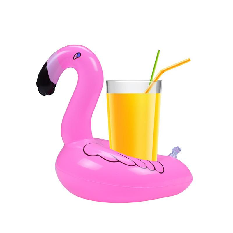 Flamingo pool float clipart. Inflatable drinks cup holder