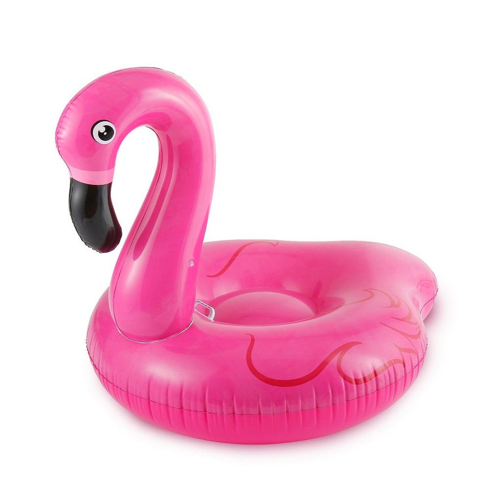 Flamingo pool float clipart vector library Summer Waves Jumbo Inflatable Pink Flamingo Ride-On Swimming Pool ... vector library