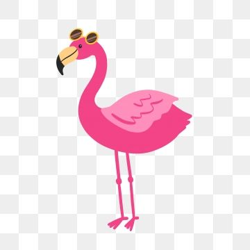 Flamingo sunglasses clipart clip transparent library 2019 的 Hand Drawn Cute Pink Flamingo With Sunglasses, Cartoon, Bird ... clip transparent library