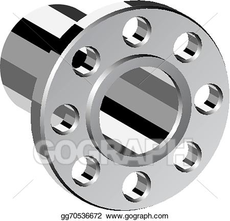 Flange clipart image royalty free download Vector Art - Vector chrome pipe flange. EPS clipart gg70536672 - GoGraph image royalty free download