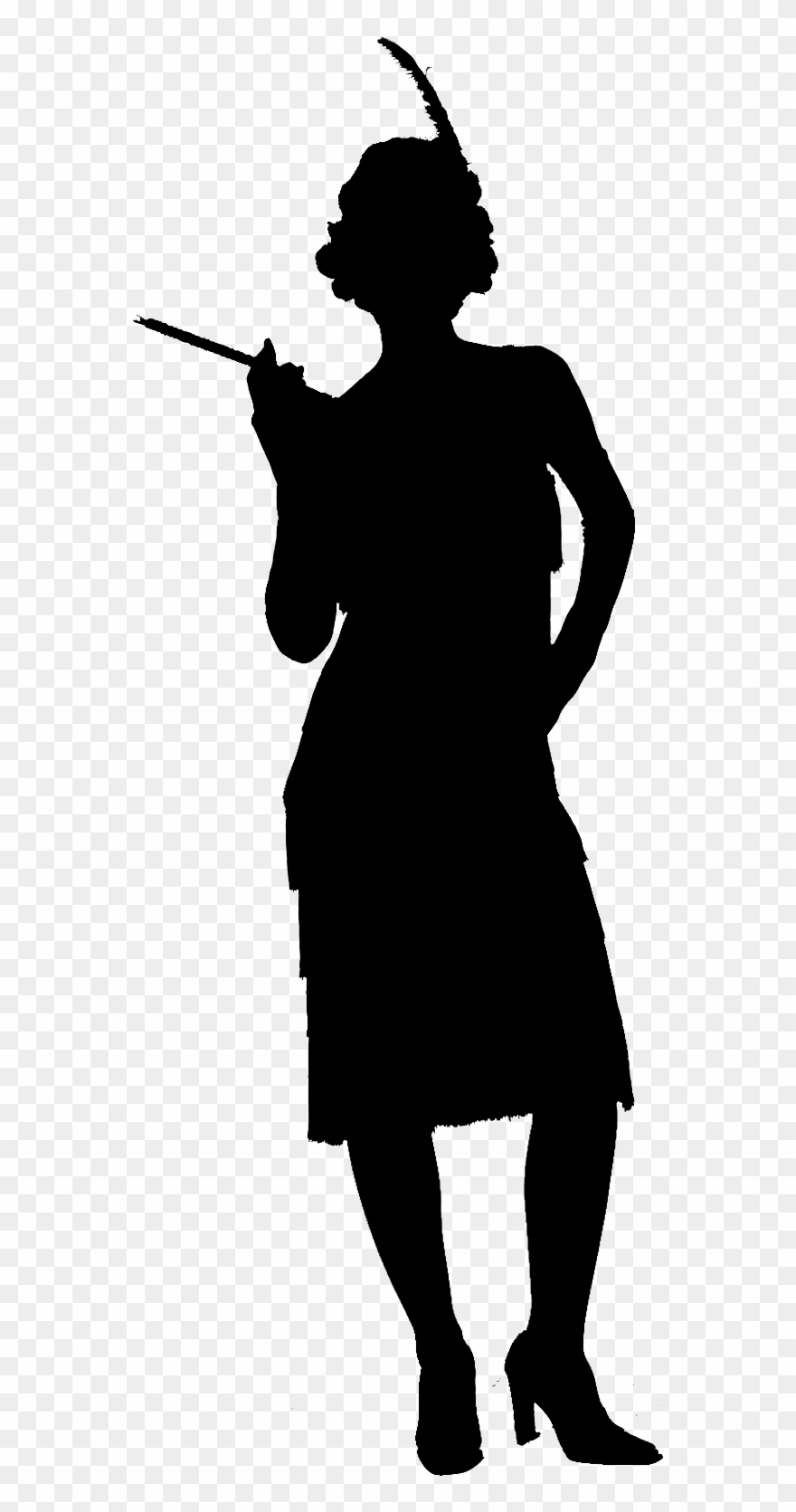 Flapper silhouette clipart library Flapper - Victorian Man Silhouette Png Clipart (#515108) - PinClipart library