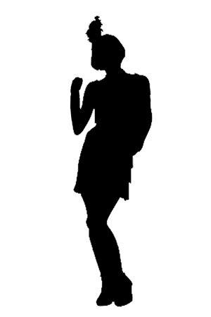 Flapper silhouette clipart jpg freeuse download 1920s Silhouette | Flapper Silhouette 2 | Tema matriekafskeid ... jpg freeuse download