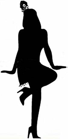 Flapper silhouette clipart clip Free 1920S Flapper Silhouette, Download Free Clip Art, Free Clip Art ... clip