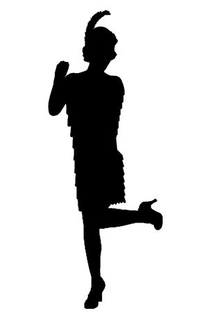 Flapper silhouette clipart black and white library Collection of Flapper clipart | Free download best Flapper clipart ... black and white library