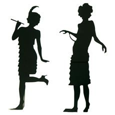 Flapper silhouette clipart png royalty free stock Silhouette Of A Flapper Girl png royalty free stock
