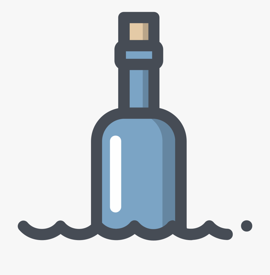 Open pill bottle png. Flaschenpost clipart